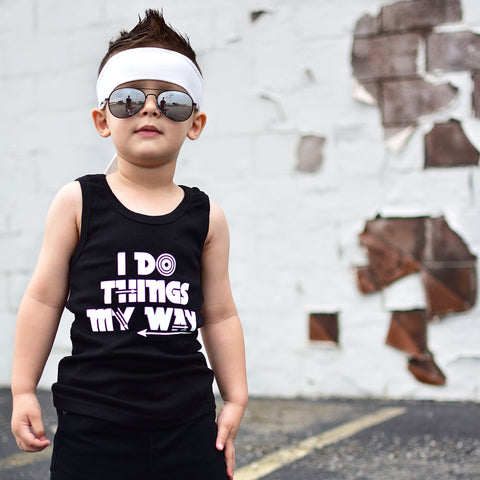 I Do Things My Way - Tank Top-tank top-Hip Kid Apparel-kids graphic t-shirts-kids graphic tees-modern kids clothes-trendy shirts for kids-unisex kids shirts-for-boys-girls