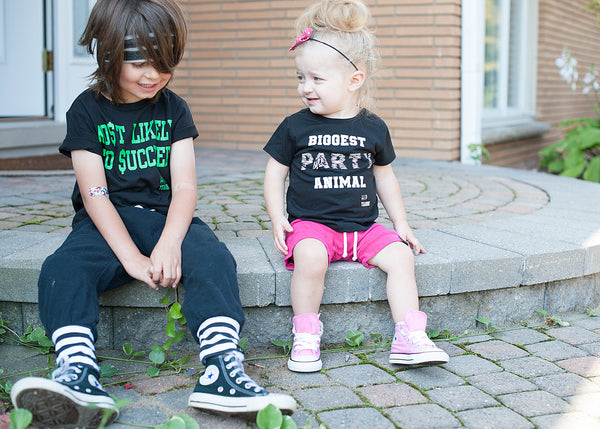 Most Likely to Succeed - Black and Green Kids Tee Shirt-Tee Shirts-Hip Kid Apparel-kids graphic t-shirts-kids graphic tees-modern kids clothes-trendy shirts for kids-unisex kids shirts-for-boys-girls