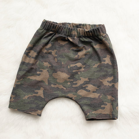 Faded Camo Harem Shorts - READY TO SHIP