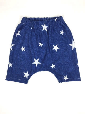 Bright Blue Star Harems-Bottoms-Hip Kid Apparel-kids graphic t-shirts-kids graphic tees-modern kids clothes-trendy shirts for kids-unisex kids shirts-for-boys-girls