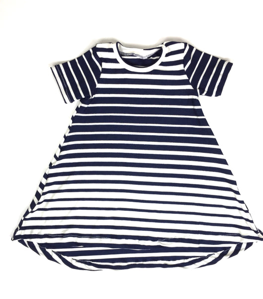 Nautical Navy Stripe Dress-Bottoms-Hip Kid Apparel-kids graphic t-shirts-kids graphic tees-modern kids clothes-trendy shirts for kids-unisex kids shirts-for-boys-girls