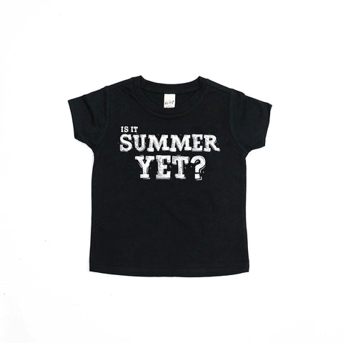 PREORDER Is It Summer Yet? - Back to School Black and White Kids Graphic Tee-Tee Shirts-Hip Kid Apparel-kids graphic t-shirts-kids graphic tees-modern kids clothes-trendy shirts for kids-unisex kids shirts-for-boys-girls