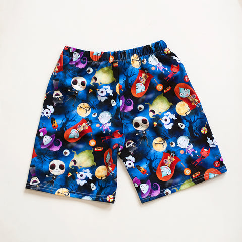 Halloween Jack and Sally All over Print Shorts
