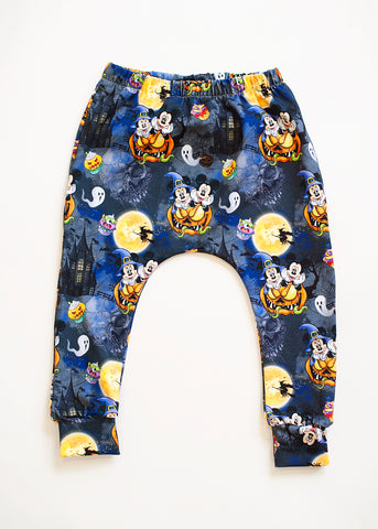 Mickey and Minnie Pumpkin Halloween All over Print Harem Pants