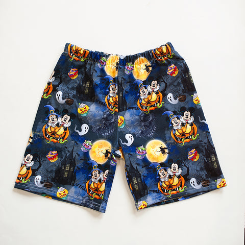 Mickey and Minnie Pumpkin Halloween All over Print Shorts