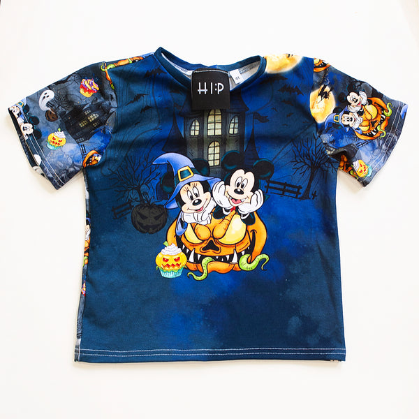 Mickey and Minnie Panel Tee Shirt - Size 4