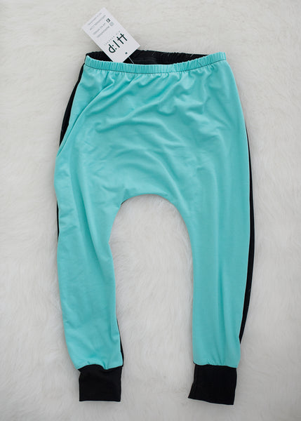 Mint Harem Pants - Black on the Back Side *PATCHES CAN BE ADDED