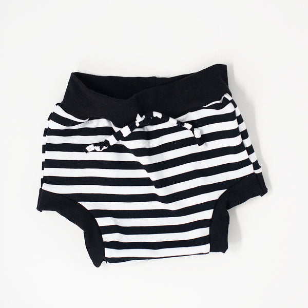 NEW Striped Shorties with faux drawstring