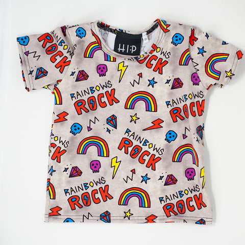 Rainbows Rock Tee Shirt