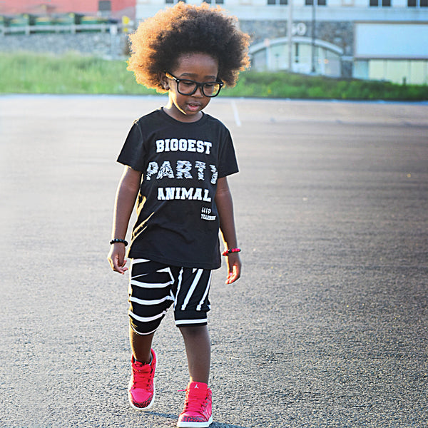 Biggest Party Animal Tee Shirt-Tee Shirts-Hip Kid Apparel-kids graphic t-shirts-kids graphic tees-modern kids clothes-trendy shirts for kids-unisex kids shirts-for-boys-girls