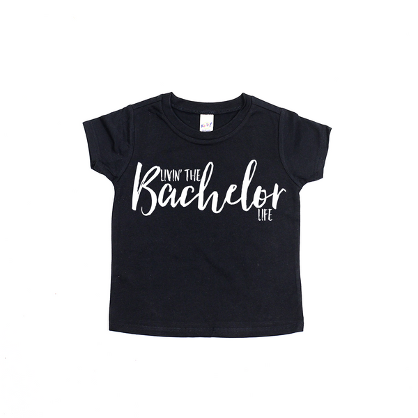 Livin' the Bachelor Life - Toddler Boy Shirt-Tee Shirts-Hip Kid Apparel-kids graphic t-shirts-kids graphic tees-modern kids clothes-trendy shirts for kids-unisex kids shirts-for-boys-girls