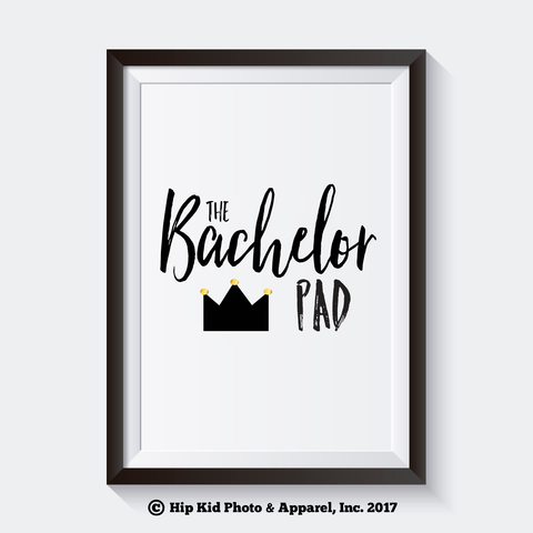 The Bachelor Pad Crown - Instant Download - Baby/Toddler Nursery Decor-Hip Kid Apparel-kids graphic t-shirts-kids graphic tees-modern kids clothes-trendy shirts for kids-unisex kids shirts-for-boys-girls