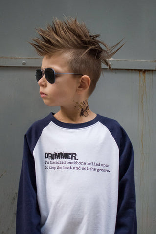 Drummer.-Hip Kid Apparel-kids graphic t-shirts-kids graphic tees-modern kids clothes-trendy shirts for kids-unisex kids shirts-for-boys-girls