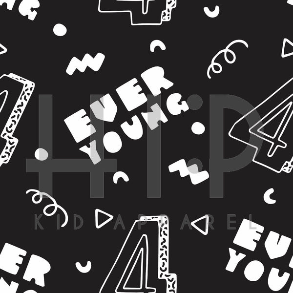 4 Ever Young Print - Kids Birthday Collection