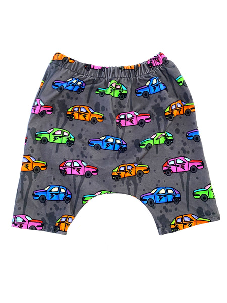 Neon Race Cares Harem Shorts Size 2t