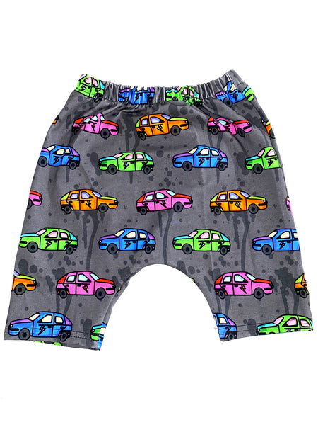 Neon Race car Harem Shorts Size 3t