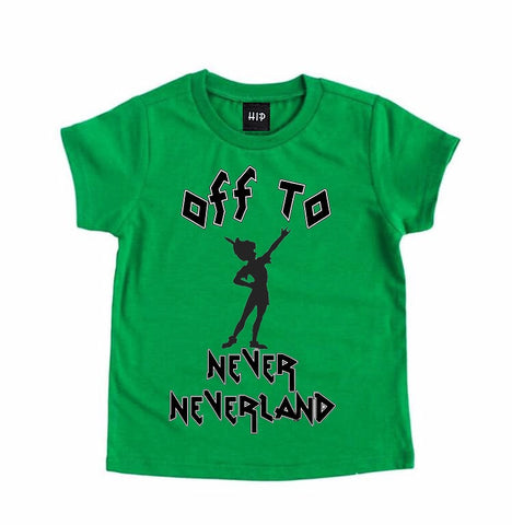 Kids Neverland Peter Pan Tee Shirt - PREORDER