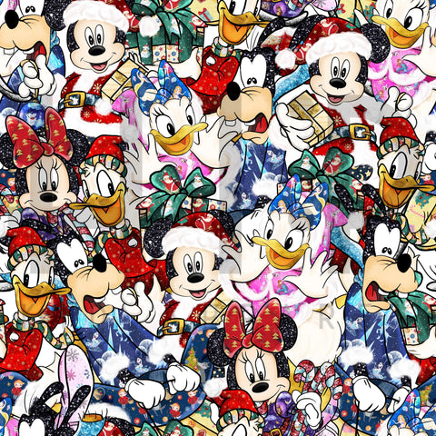 Mouse and Friends Holiday Christmas Print