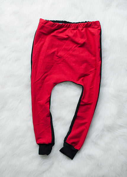 Red Hot Harem Pants - Black on the Back Side