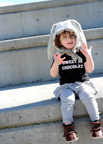 Sweet As Chocolate - Short Sleeved Easter Kids Shirt-Hip Kid Apparel-kids graphic t-shirts-kids graphic tees-modern kids clothes-trendy shirts for kids-unisex kids shirts-for-boys-girls