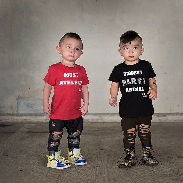 Most Athletic - Red Kids Tee Shirt-Tee Shirts-Hip Kid Apparel-kids graphic t-shirts-kids graphic tees-modern kids clothes-trendy shirts for kids-unisex kids shirts-for-boys-girls