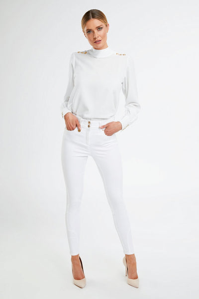 Jodhpur Jean in White