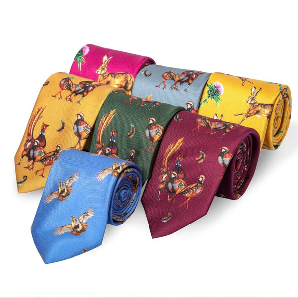 'Odd One Out' Silk Tie in Mulberry