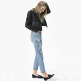 Joe's Jeans Smith High Rise Straight Cropped Jean Embroidered Jazzie