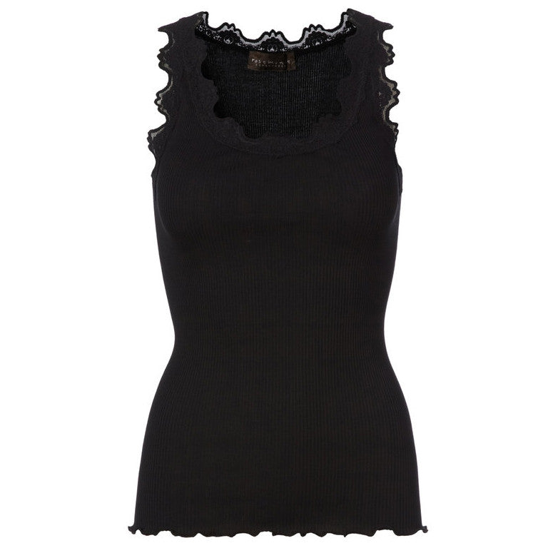 Rosemunde Black Silk Lace Top front