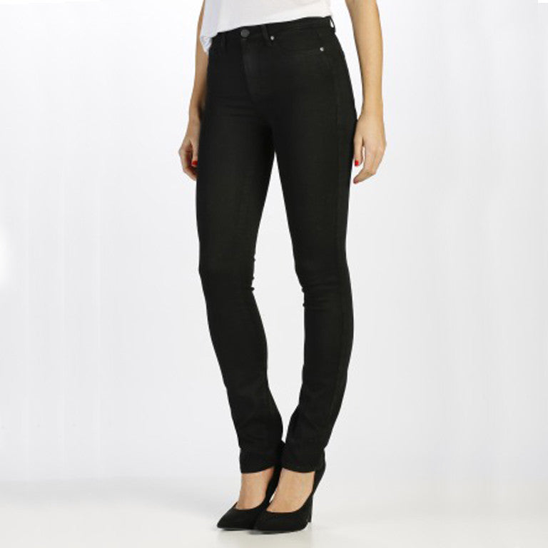 Paige Hoxton Straight Jeans Black Shadow