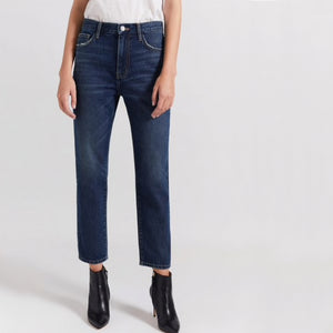 Current/Elliott The Vintage Crop Slim - 1 Year Worn Rig
