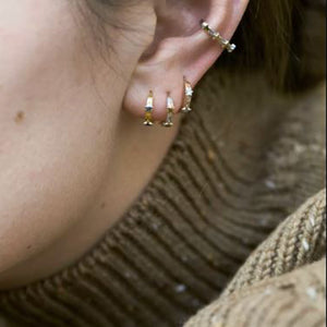 Tada & Toy Gold Cosmic Tiny Star Hoops