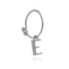 Rachel Jackson London This Is Me Mini Initial Hoop Earring Silver E