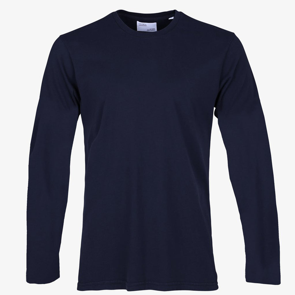 Long sleeved organic tee in Navy by Colorful Standard