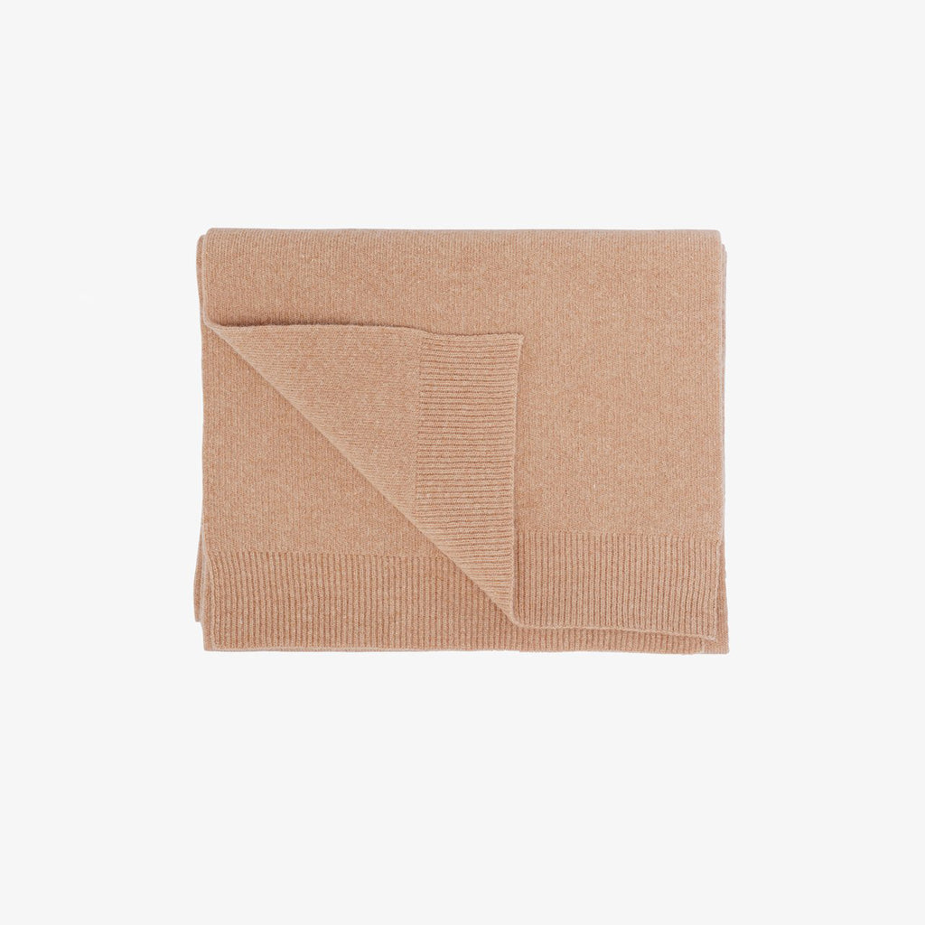 Merino Wool Scarf in Desert Khaki by colorful Standard