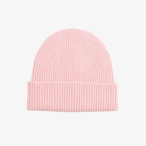 Colorful Standard Merino Wool Beanie in Faded Pink