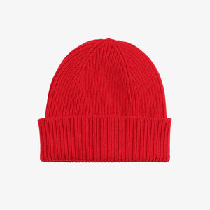Colorful Standard Merino Wool Beanie in Scarlet Red