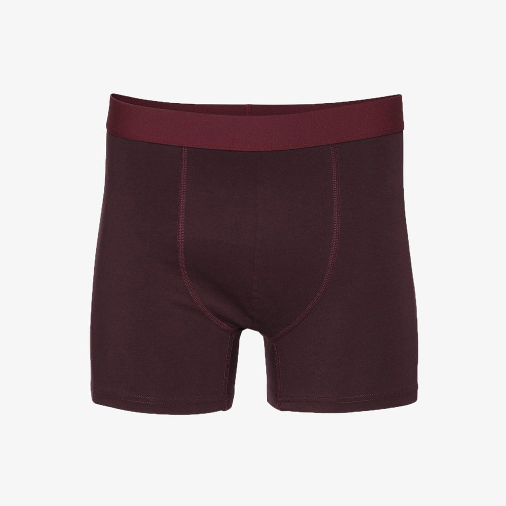 Colorful Standard Classic Organic Boxer Briefs - Oxblood Red