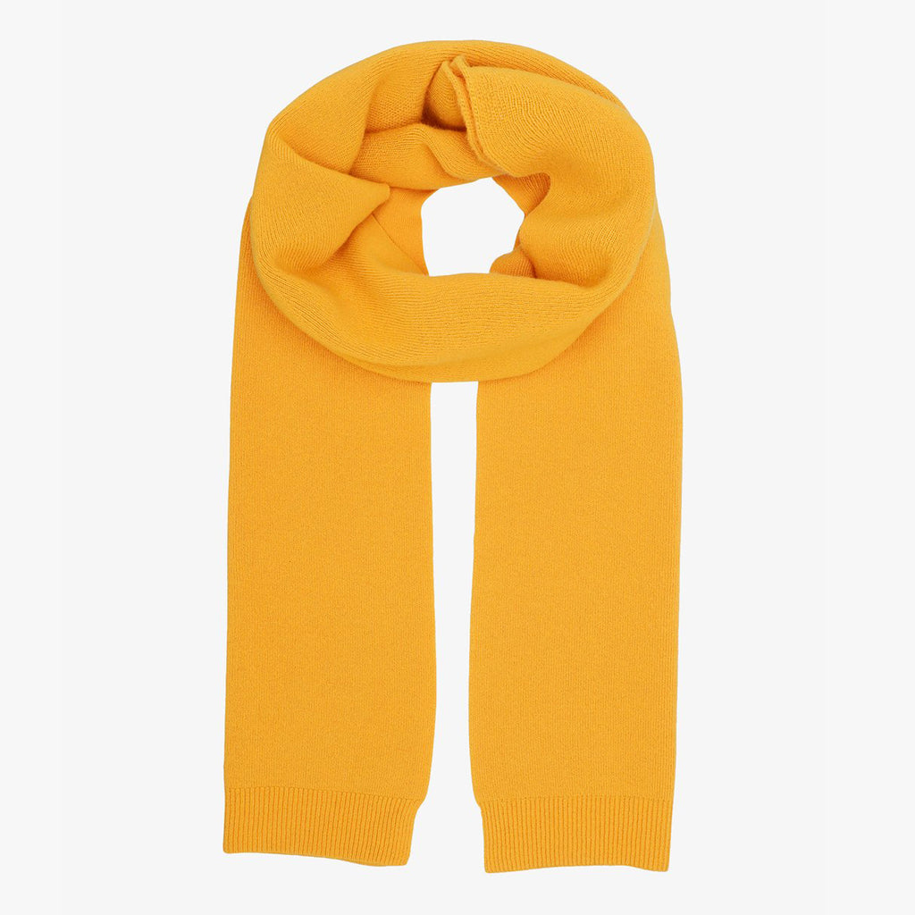 Colorful Standard Merino scarf in Burned Yellow
