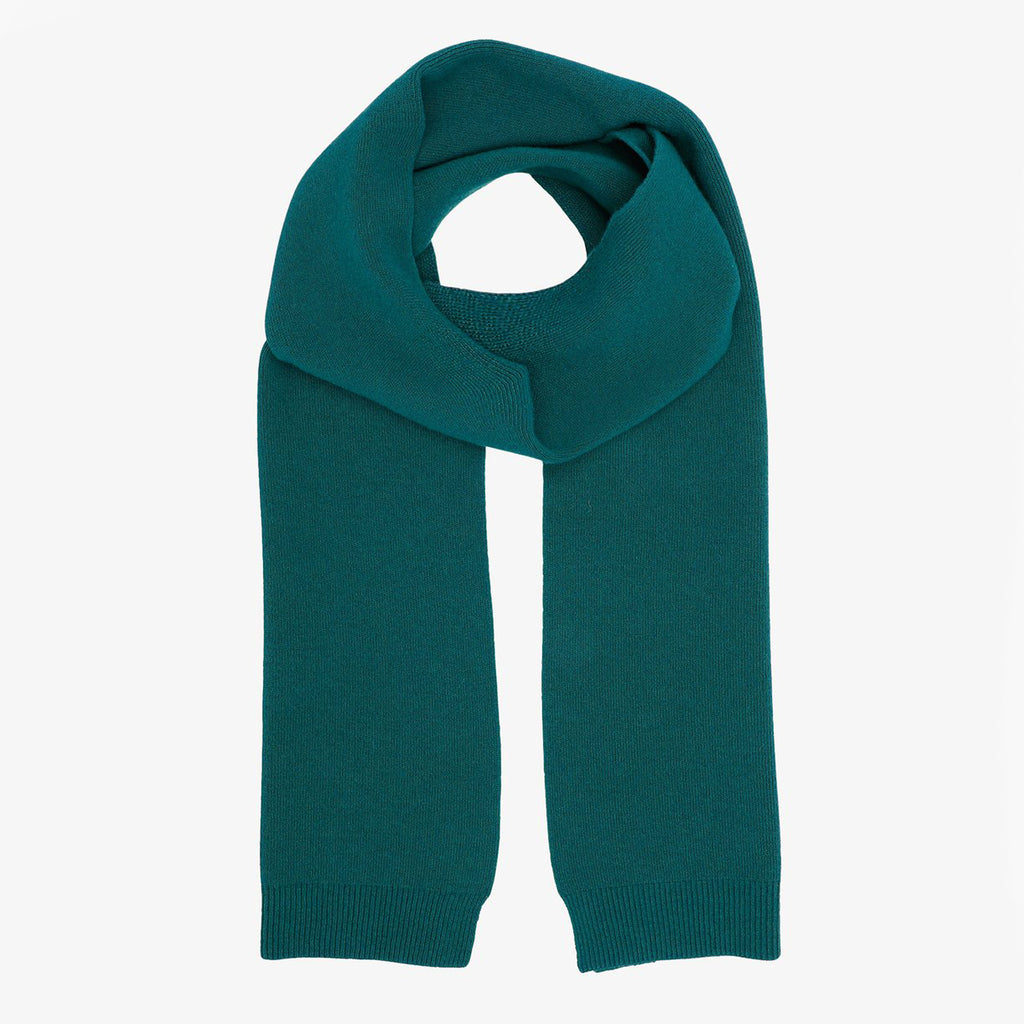 Merino scarf in Ocean Green by Colorful Standard