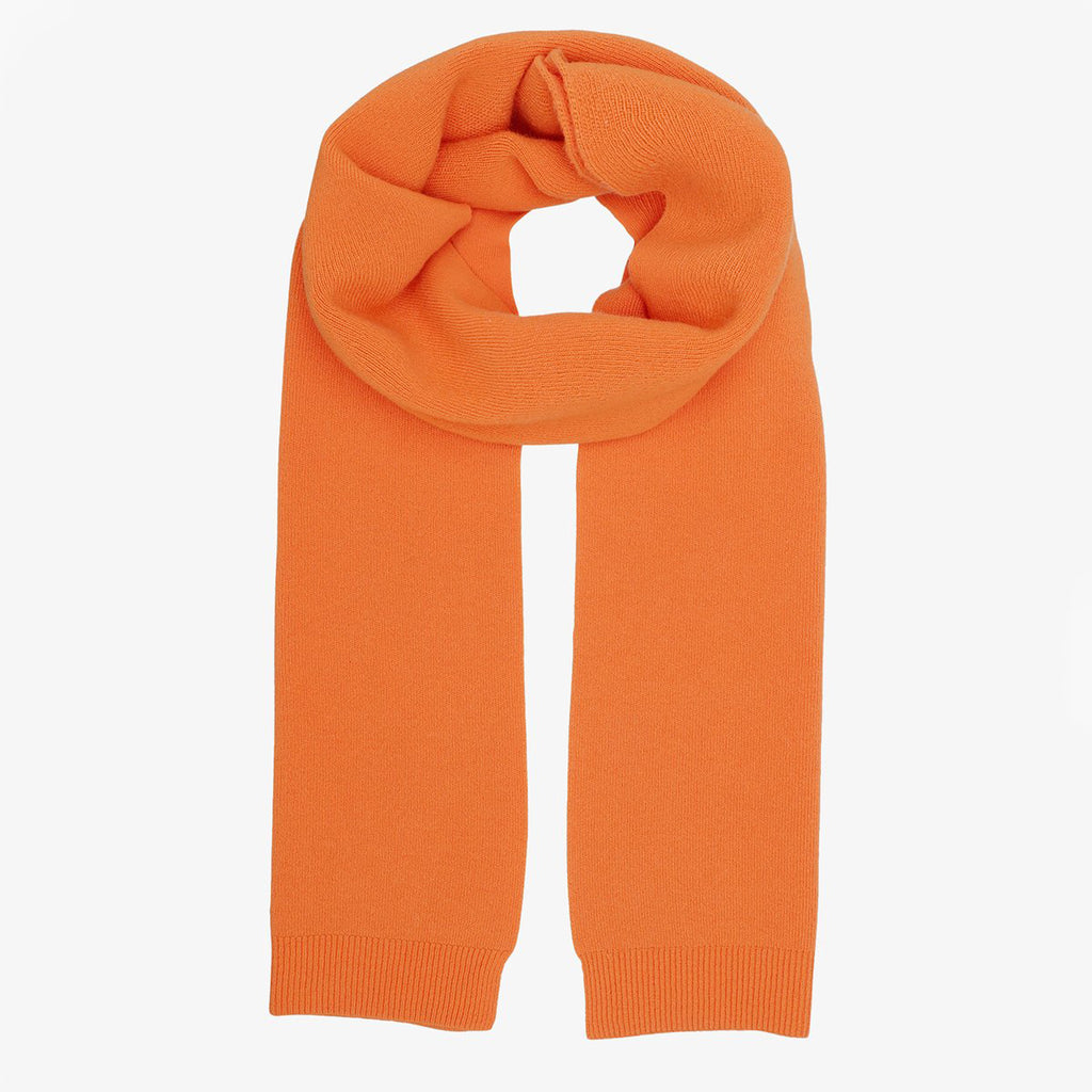 Merino Wool Scarf in Burned Orange by Colorfuk Standard