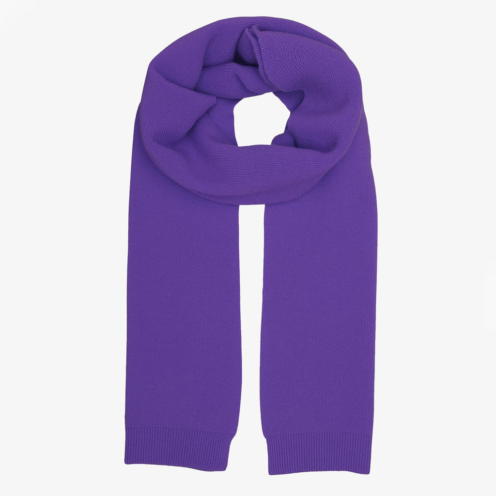 Merino Wool Scarf in Ultra Violet by Colorful Standard