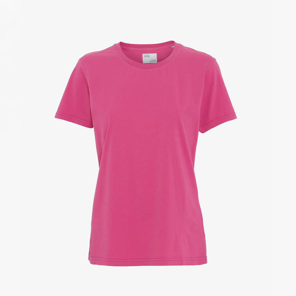 Bubblegum Pink Organic Women's tee by Colorful Standard