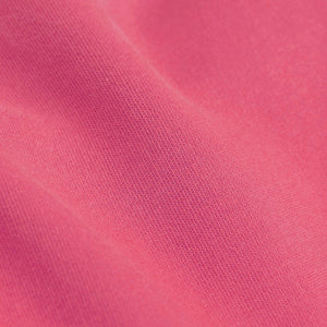close up of Bubblegum Pink Organic Women's tee by Colorful Standard