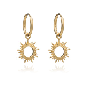 Gold Eternal Sun mini Hoop Earring by Rachel Jackson
