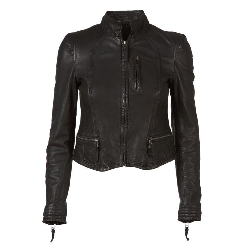 Black leather Rucy biker by MDK