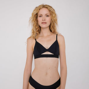 The Tencel Lite bralette in Navy by Organic Basics