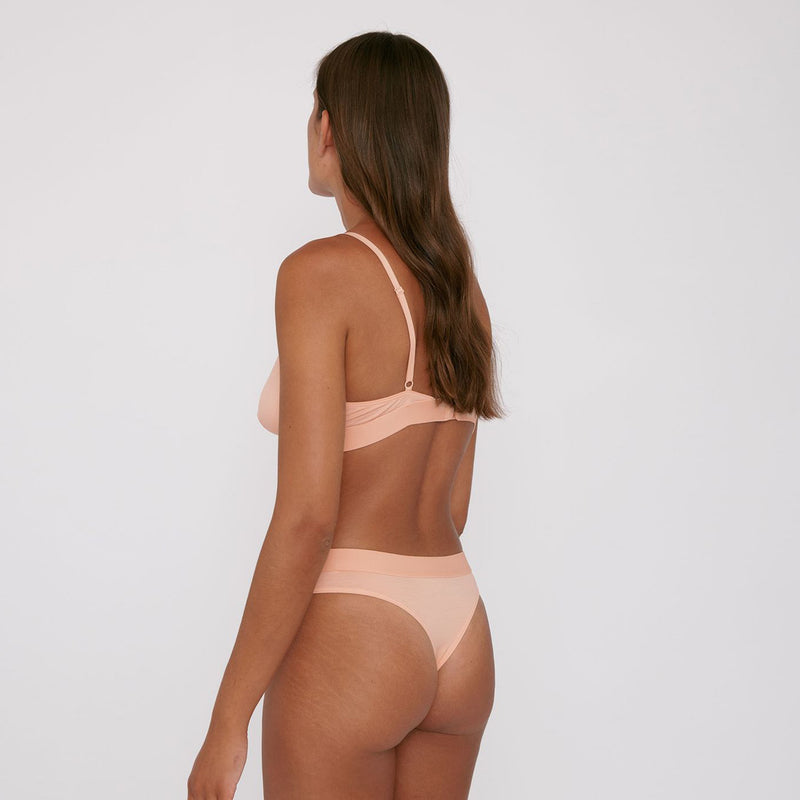 Tencel Tanga brief in soft pink by Organic Basics