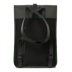 Back image of the Backpack Mini in Green by Rains