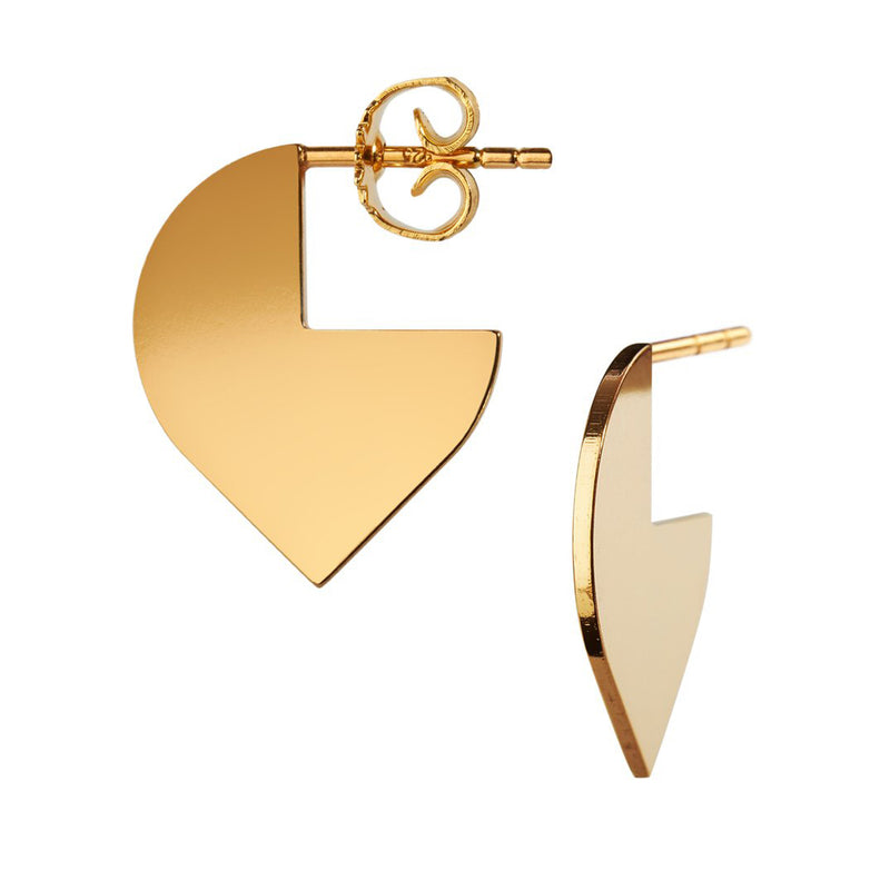 Cut out gold hoop by Schernig